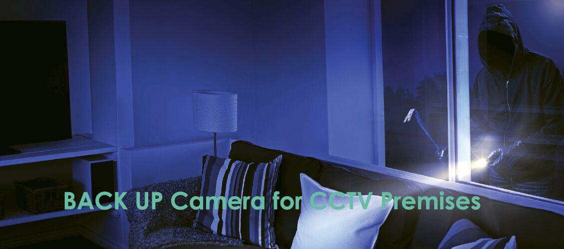Backup camera for CCTV Permises